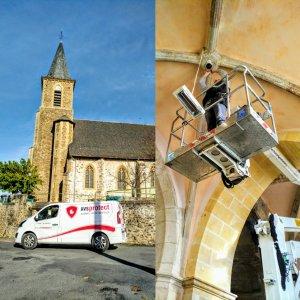 Décembre 2018 : vidéosurveillance église Flagnac